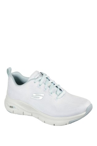 Skechers® White Arch Fit Comfy Trainers