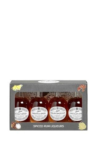 Set of 4 Miniature Rum Liqueurs Gift Box by Tiptree