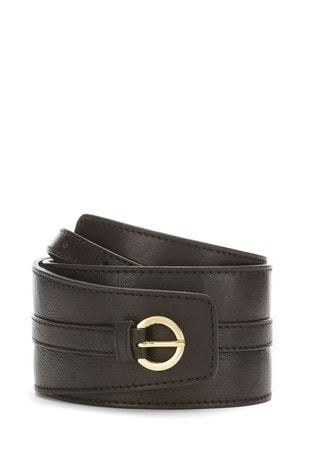 Mint Velvet Black Soft Waist Belt