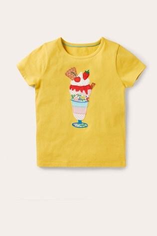 Boden Yellow Big Appliqué T-Shirt