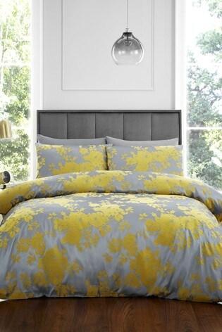 Catherine Lansfield Velvet Rose Duvet Cover and Pillowcase Set