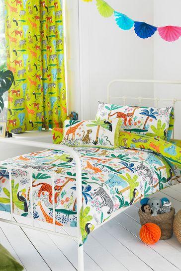 Little Furn Jungletastic Duvet Cover and Pillowcase Set by Furn