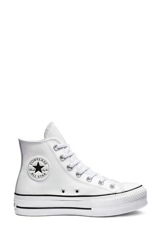 Converse Platform Lift Chuck Taylor Leather High Trainers