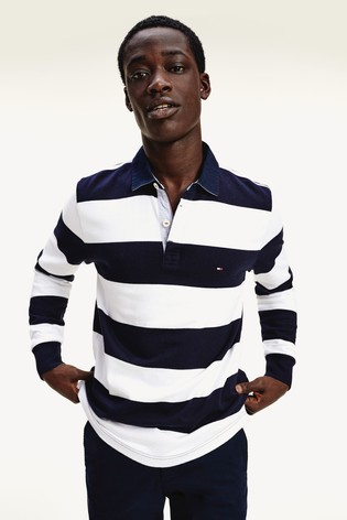 Tommy Hilfiger Iconic Block Stripe Rugby Shirt