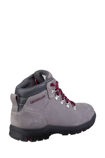 CAT® Grey Mae Lace-Up Safety Boots