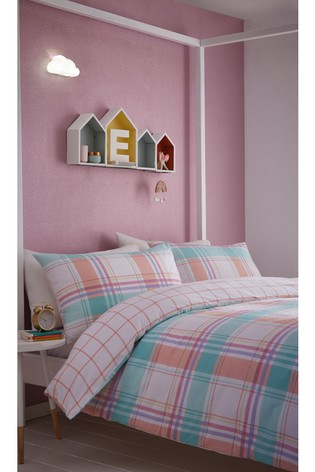 Cha Cha Check Brushed Cotton Kids Duvet Cover and Pillowcase Set by Appletree
