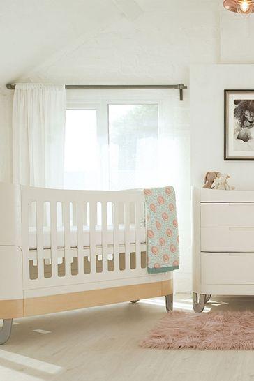 Gaia Serena Complete Sleep Plus Mini Cot White/Natural