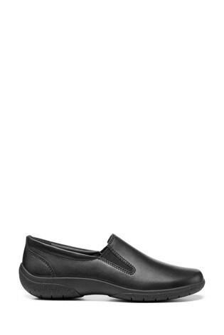 Hotter Black Glove II Slim Fit Slip-On Trouser Shoes