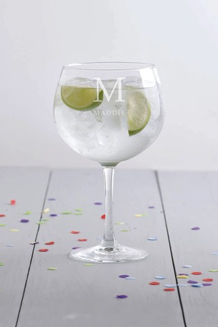 Personalised Gin Glass by Loveabode