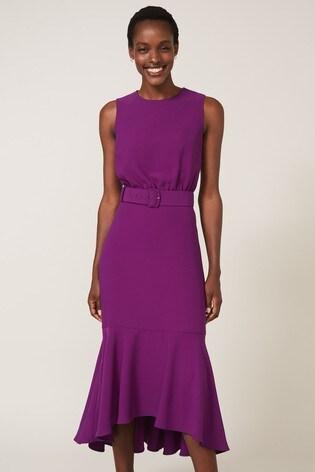 Phase Eight Purple Karli Belted Dress