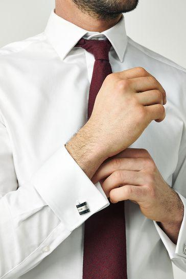 Silver Diamanté Cufflinks