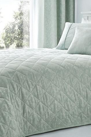 Serene Blue Ebony Jacquard Bedspread