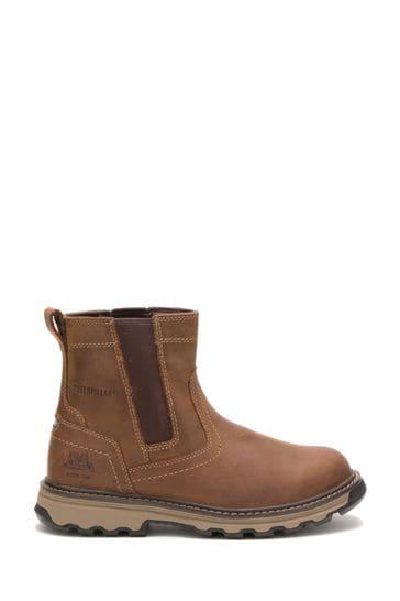 CAT® Cream Pelton Safety Boots