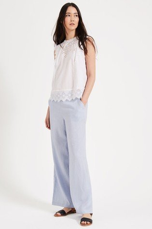 Phase Eight Blue Lex Linen Trousers