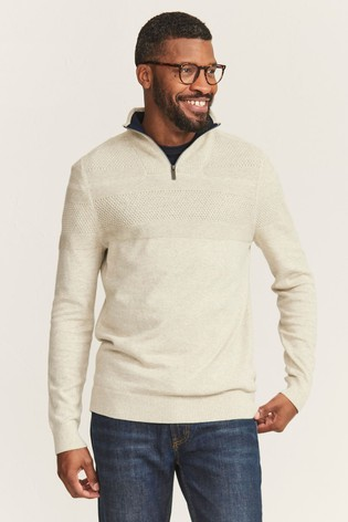 FatFace Rye Cotton Cash Half Neck Jumper