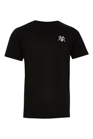 River Island Black Embroidery T-Shirt