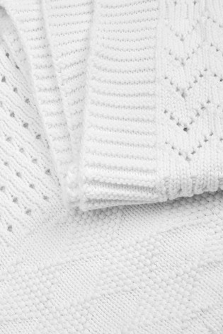 White Knitted Blanket (Newborn)