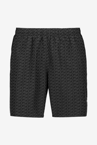 "Nike Black Challenger Run Division 7"" Shorts"