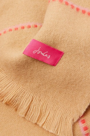 Joules Brown Stamford Checked Scarf