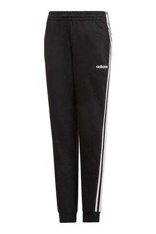 adidas Black 3 Stripe Essential Joggers
