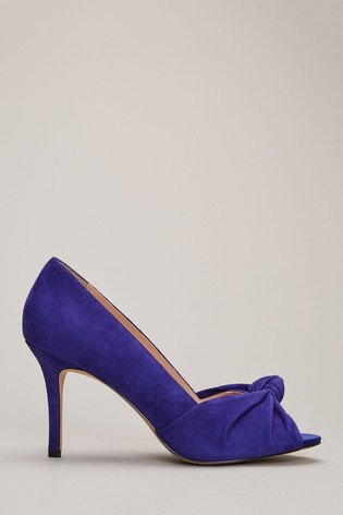 Phase Eight Blue Sonja Knot Front Peep Toe Shoes
