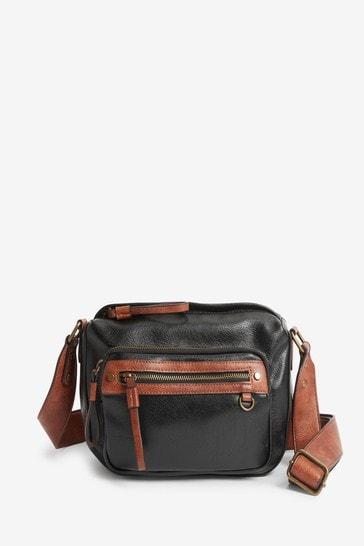 Black Utility Cross-Body Bag