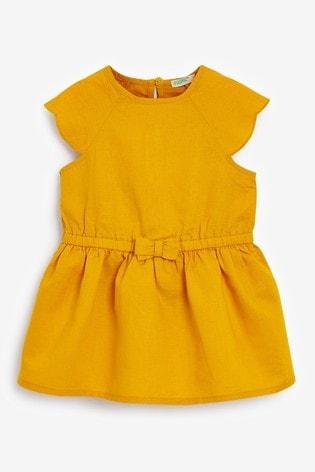 Benetton Yellow Bow Dress