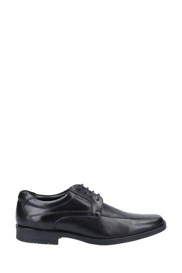 Hush Puppies Black Brandon Lace-Up Shoes