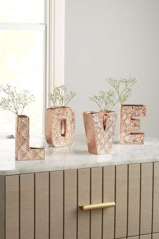 Set of 4 Love Vases