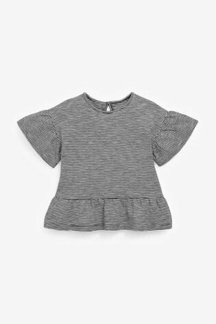 Black/White Cat 3 Pack Organic Cotton T-Shirts (3mths-7yrs)