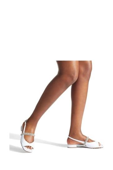 Kurt Geiger London White Princely Sandal Shoes