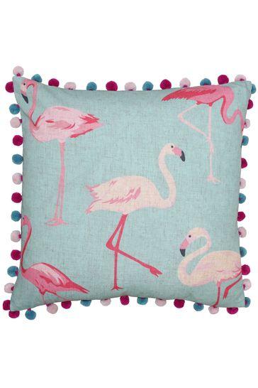Riva Home Blue Flamingo Cushion