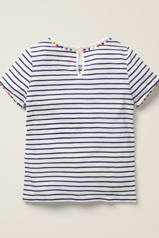Boden Blue Charlie Pom Jersey T-Shirt