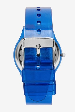 Navy Transparent Strap Watch