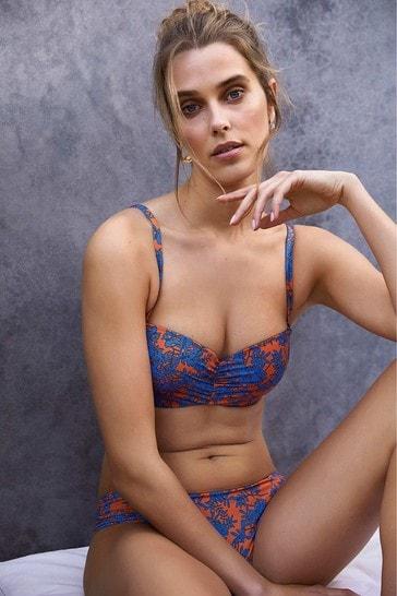 Mint Velvet Ruched Side Bikini Briefs