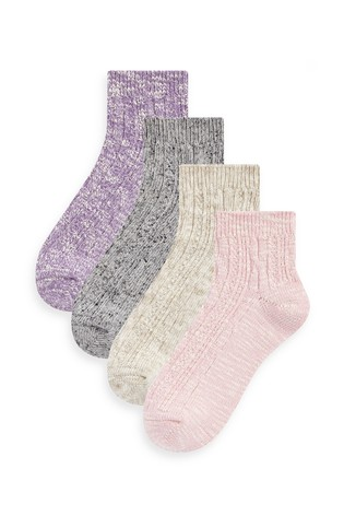 Pastel Cropped Ankle Socks Four Pack