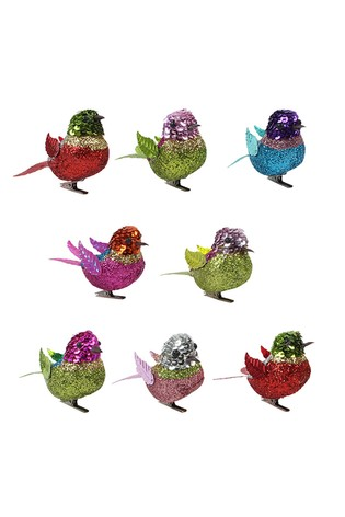 Paperchase Multi Sequin Bird Decorations