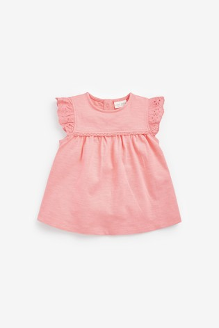 Bright 3 Pack Broderie Frill T-Shirts (0mths-3yrs)
