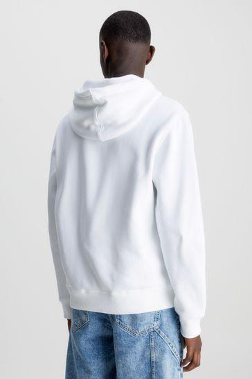 Calvin Klein Jeans White Essential Logo Hoody