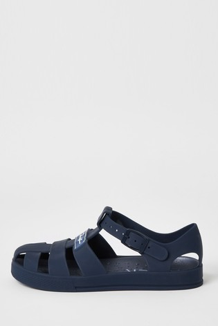 River Island Navy Jelly Caged Sandals