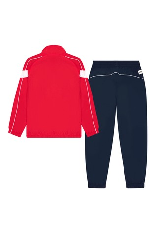 BOSS Red And Navy Logo Tracksuit Set