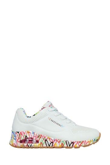 Skechers® White Uno Loving Love Trainers