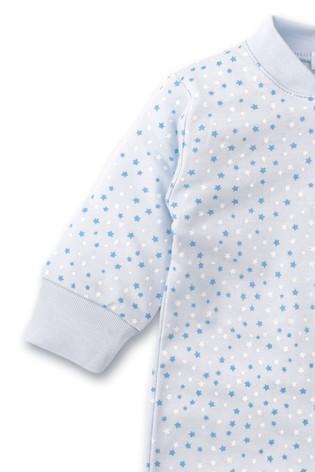 Kissy Kissy Blue Multi Stars Babygrow