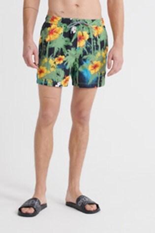 Superdry Black Hibiscus Swim Shorts