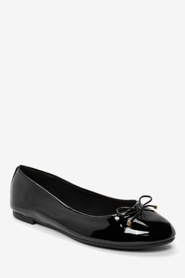Black Extra Wide Fit Forever Comfort® Ballerina Shoes