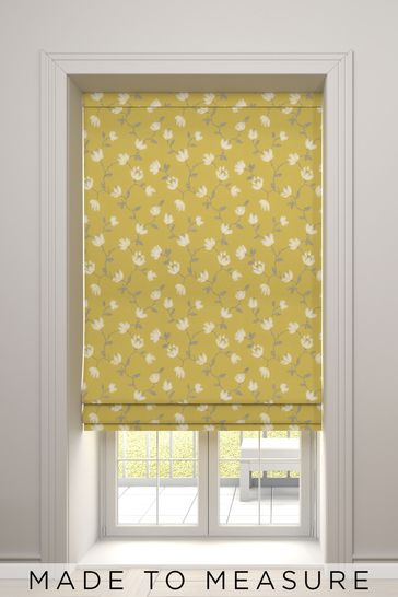 Carrara Mimosa Yellow Made To Measure Roman Blind