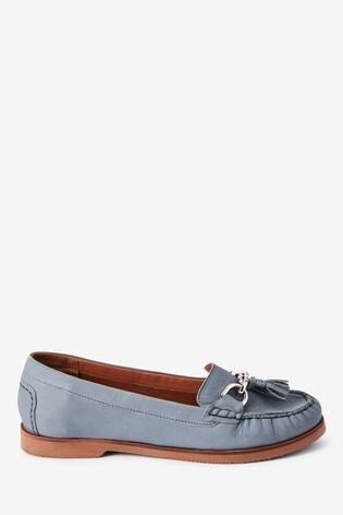 Blue Forever Comfort® Hardware Leather Moccasins