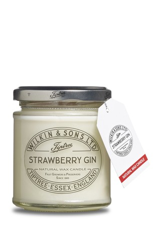 Strawberry Gin Jam Jar Candle by Tiptree