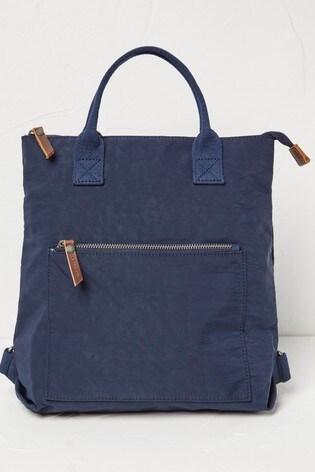 FatFace Navy Nylon Backpack