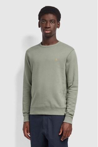 Farah Green Tim Crew Neck Sweatshirt